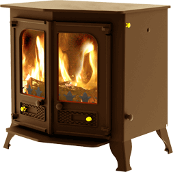 Country 12 stove in bronze