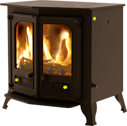 Country 12 stove in brown