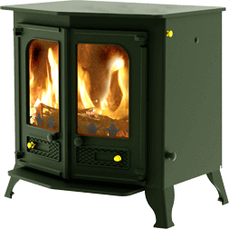 Country 12 stove in green